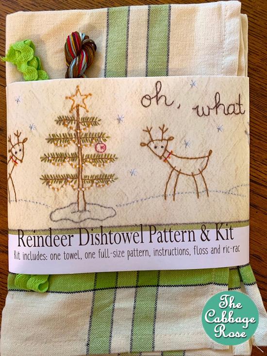 Oh! What Fun Reindeer Dishtowel Kit