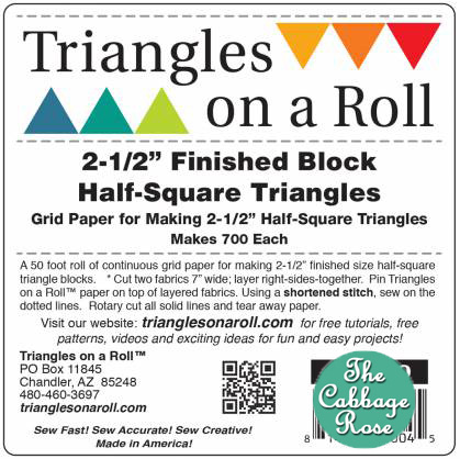 Trianges on a Roll 2 1/2in. Half