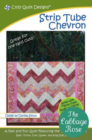 Cozy Quilt Designs - Strip Tube Chevron Quilt Pattern