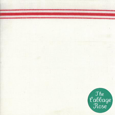 Copy of Toweling White Red