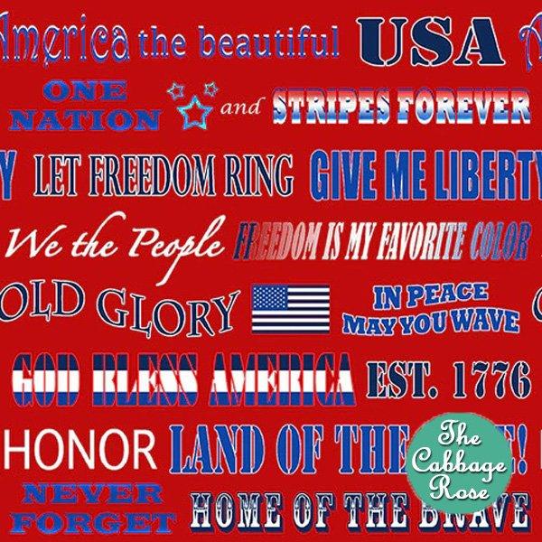 Patriotic Phrases - Red