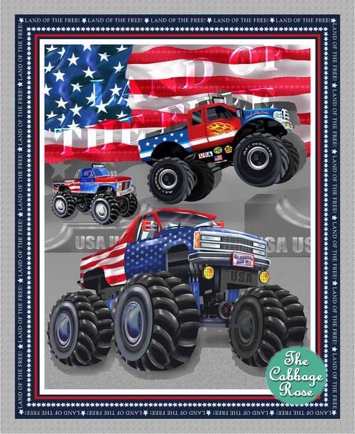 Monster Trucks Banner Panel - Silver