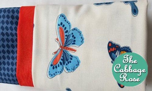 Pillowcase kit - Blue Butterflies
