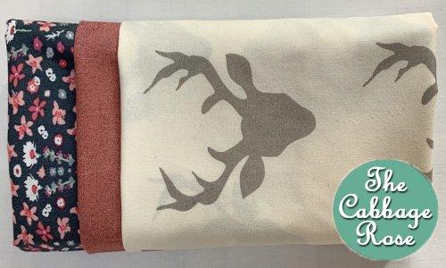 Pillowcase kit - Deer w/ floral band