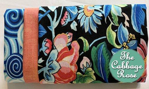 Pillowcase kit - Blue & Peach Floral