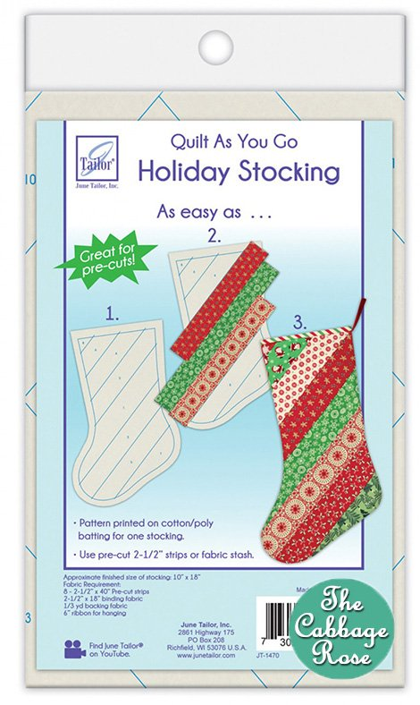 Quilt As You Go - Holiday Stocking