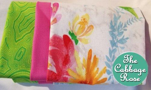 Pillowcase kit - Pink & Lime Floral