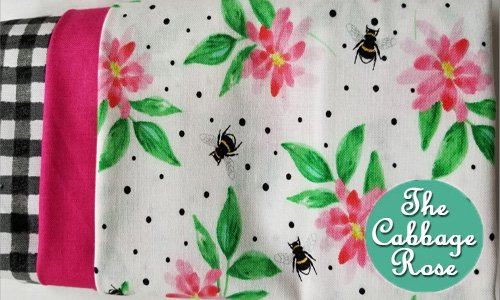 Pillowcase kit - Pink Flowers & Bees