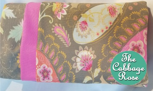 Pillowcase kit - Pink & Gray Paisley