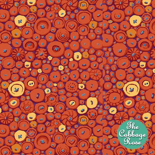 Button Mosaic Orange