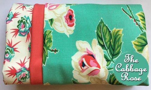 Pillowcase kit - Roses on Teal