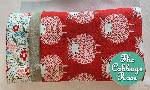 Pillowcase kit - Sheep on Red