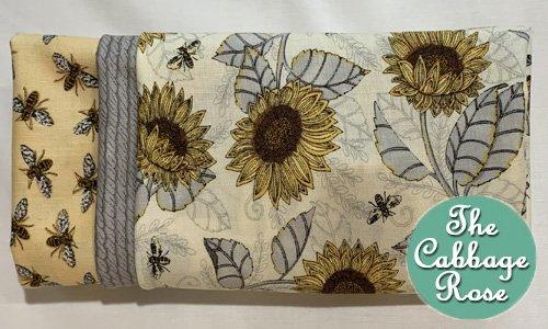 Pillowcase kit - Sunflower on White