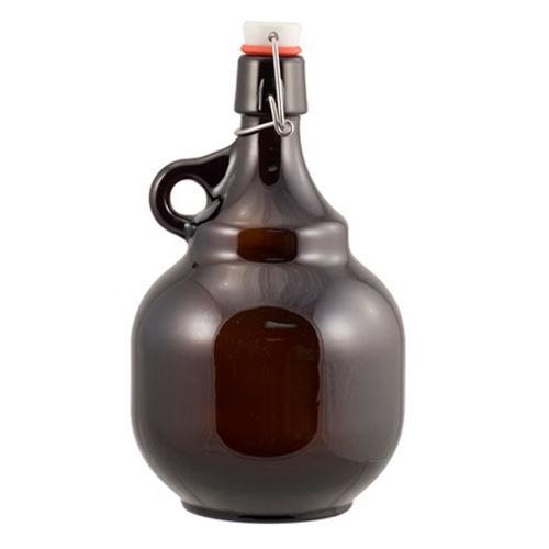 2 Liter Amber Flip-Top Palla Growlers