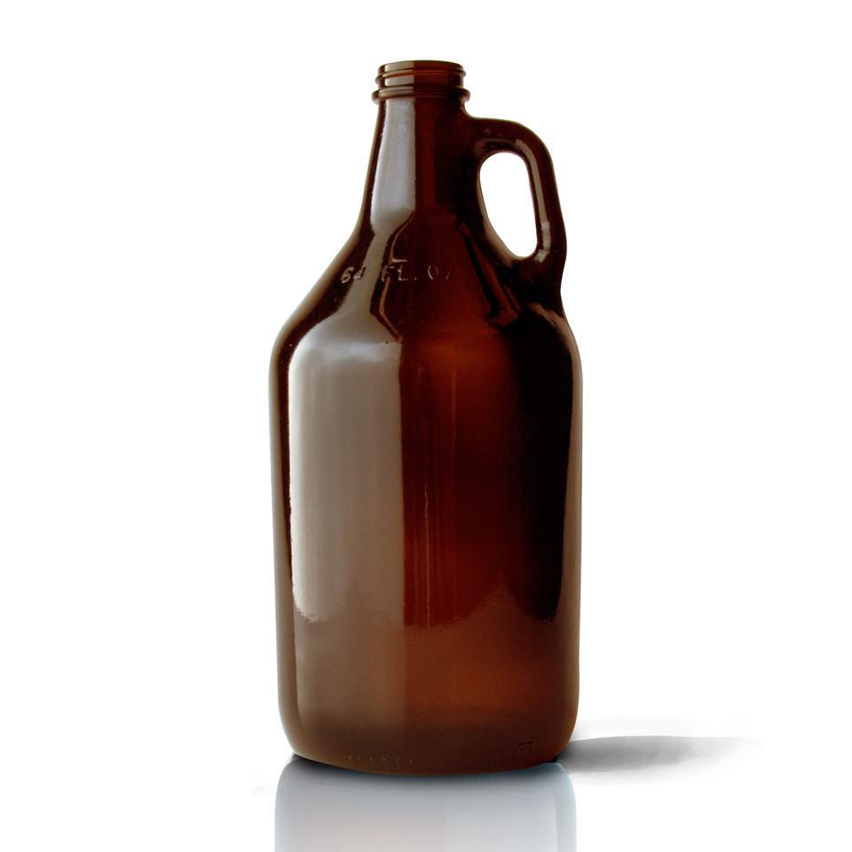 64oz Amber Bottles