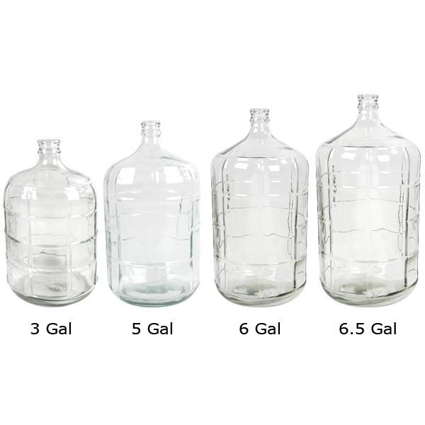 Glass Carboys 3 to 6.5 gallon