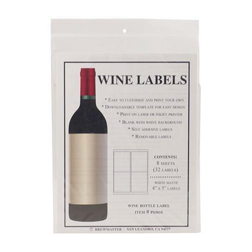 Bottle Labels - Wine - Pack of 32