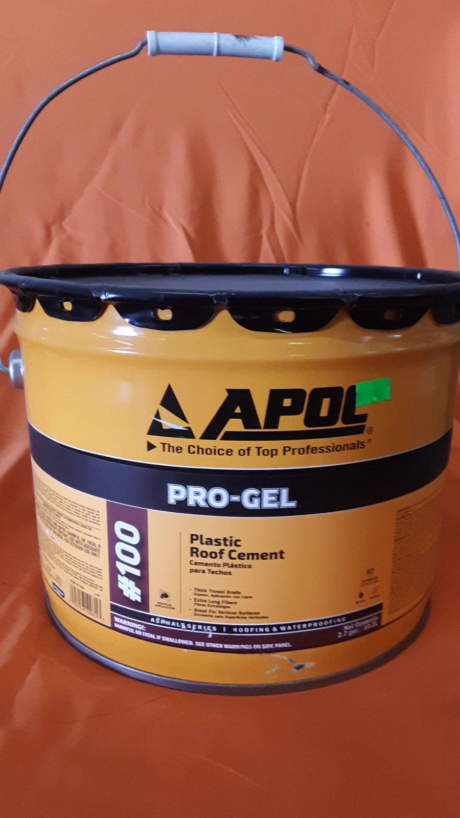 Plastic Roof Cement Black (Apoc 100) - 3 Gallon