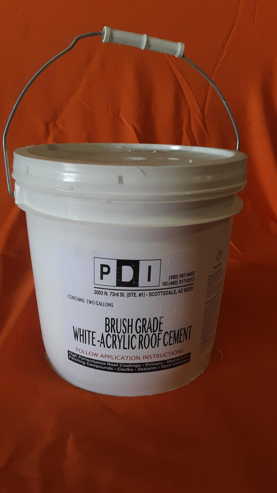 Brush Grade Roof Cement White - 2 Gallon Bucket
