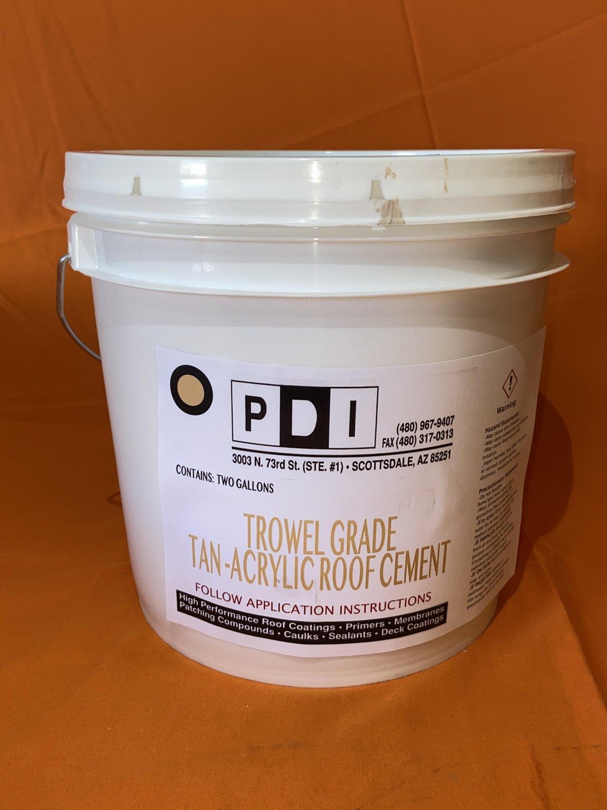 Tan - Trowel Grade Roof Cement - 2 Gallon