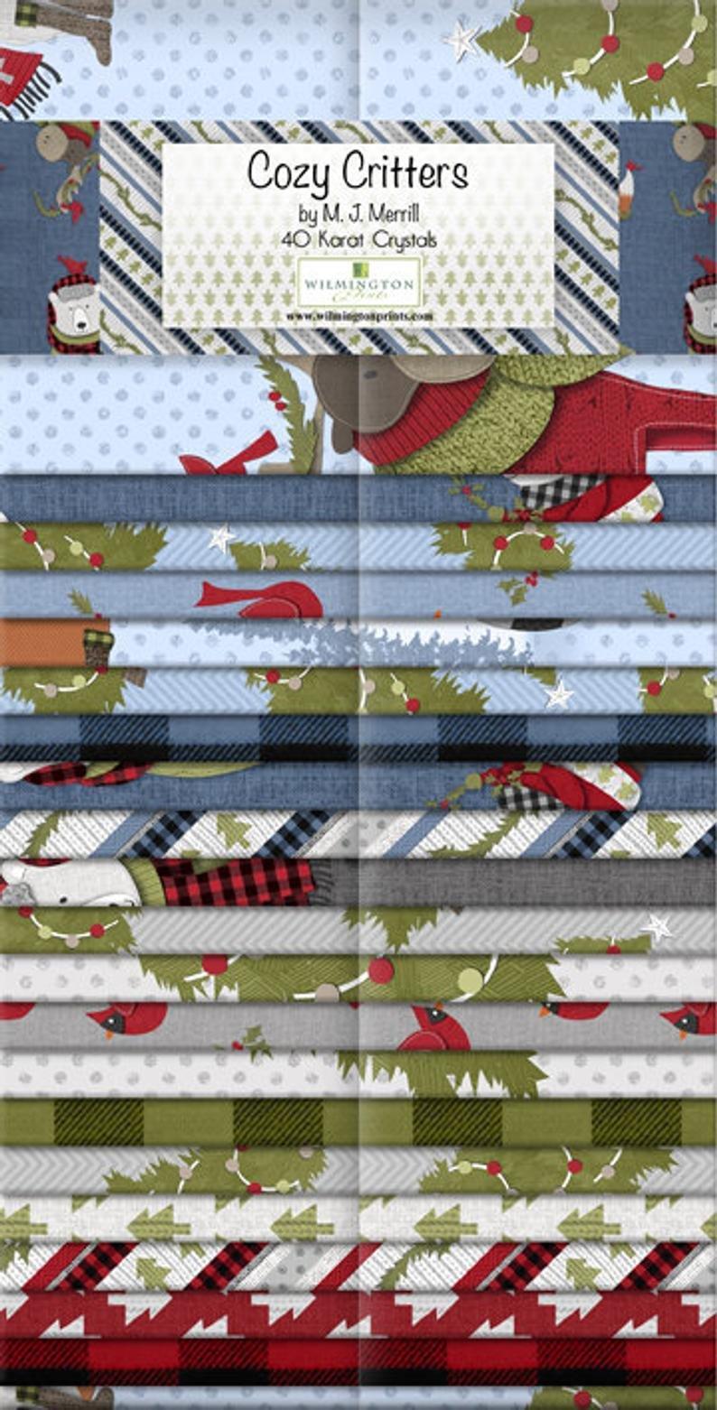 Wilmington Prints - Cozy Critters - 2.5 strips