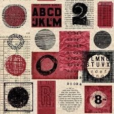 Stof Fabrics - Poster Block Red/Blk