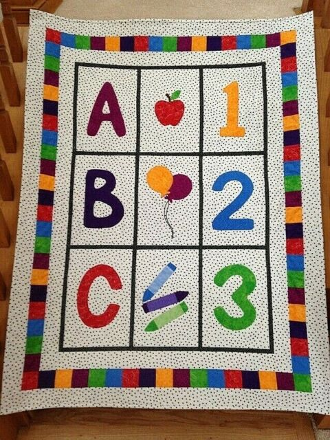 ABC 123 Baby Quilt Pattern by Bound To Be Quilting