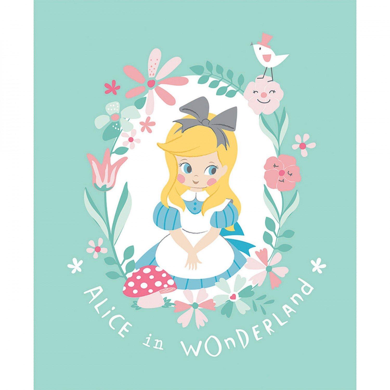 Alice In Wonderland Children's Fabric Panel 35 x 44 Inches