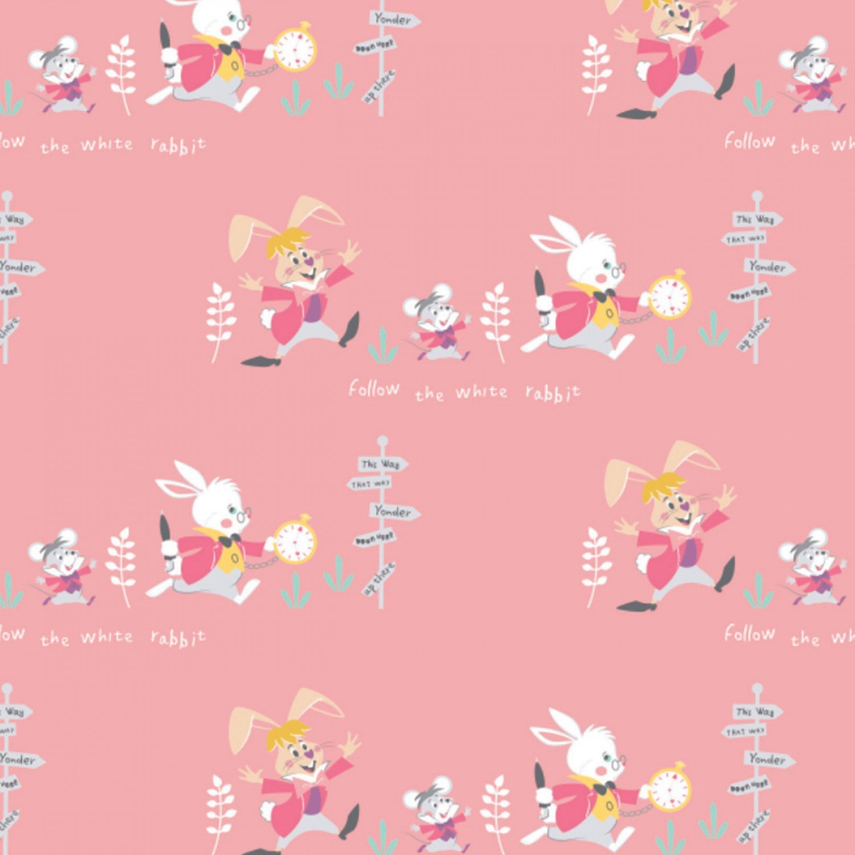 Alice In Wonderland Children's Fabric Yardage 44 Inches Wide