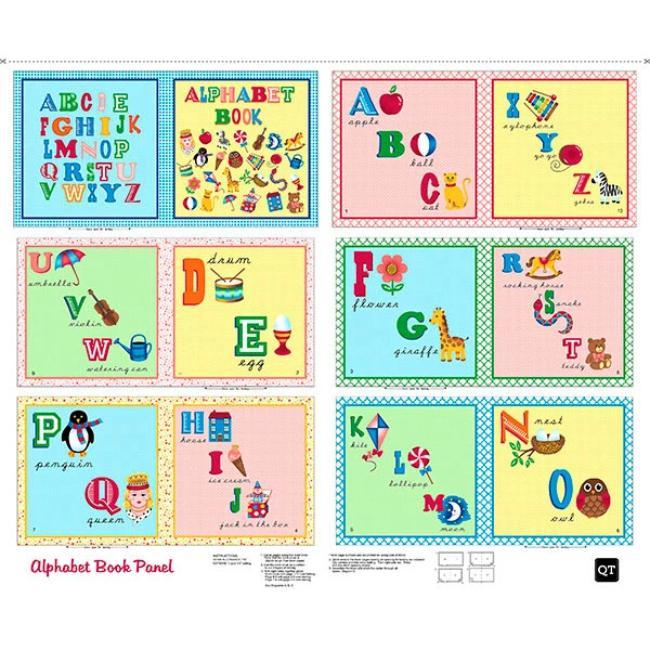 Alphabet Cloth StoryBook Panels Sew N Go by Quilting Treasures