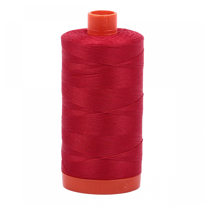 Aurifil Mako Red Cotton Thread 50wt