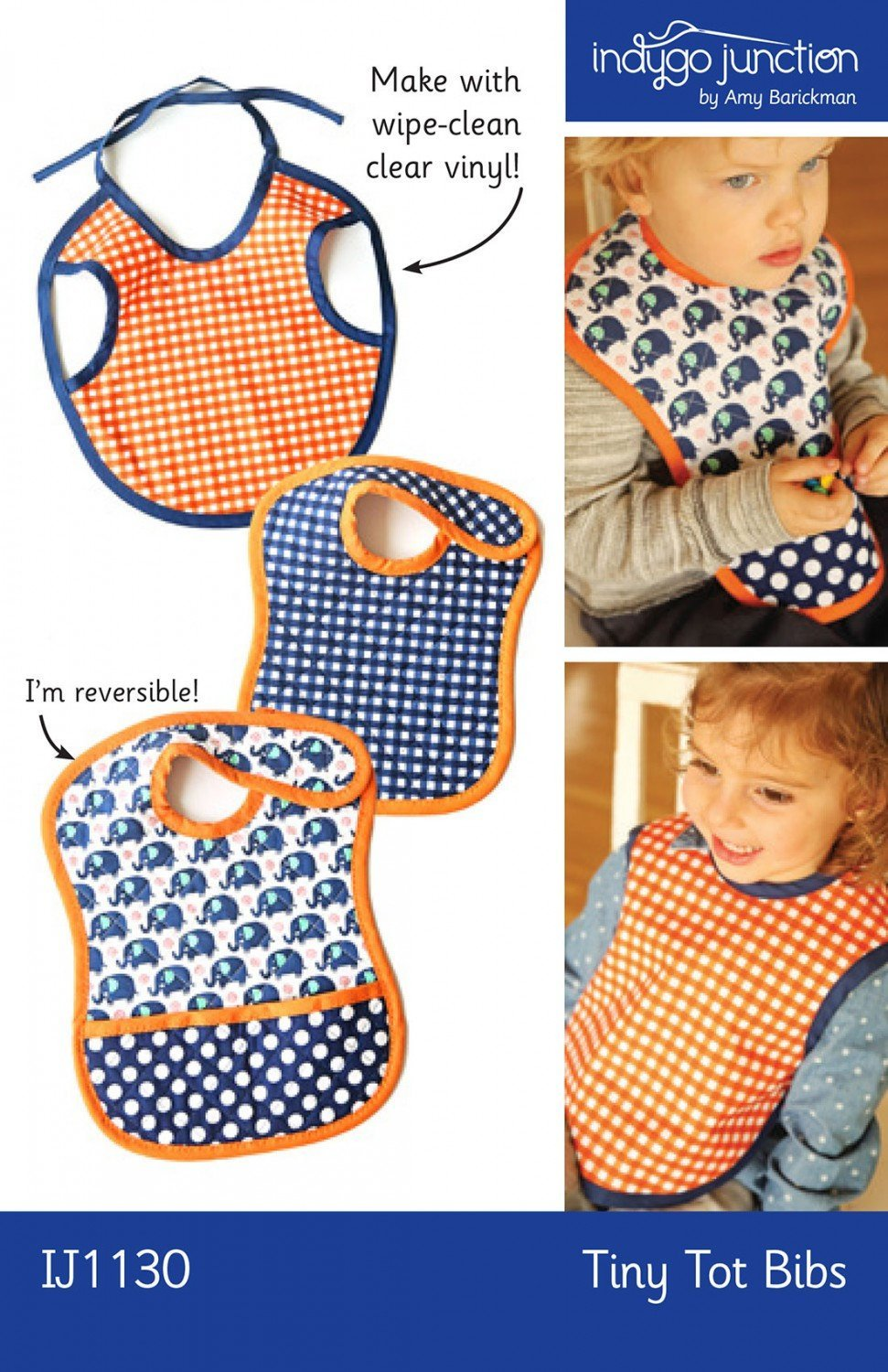 Baby Bib Pattern Tiny Tots Reversible Pattern from Indygo Junction