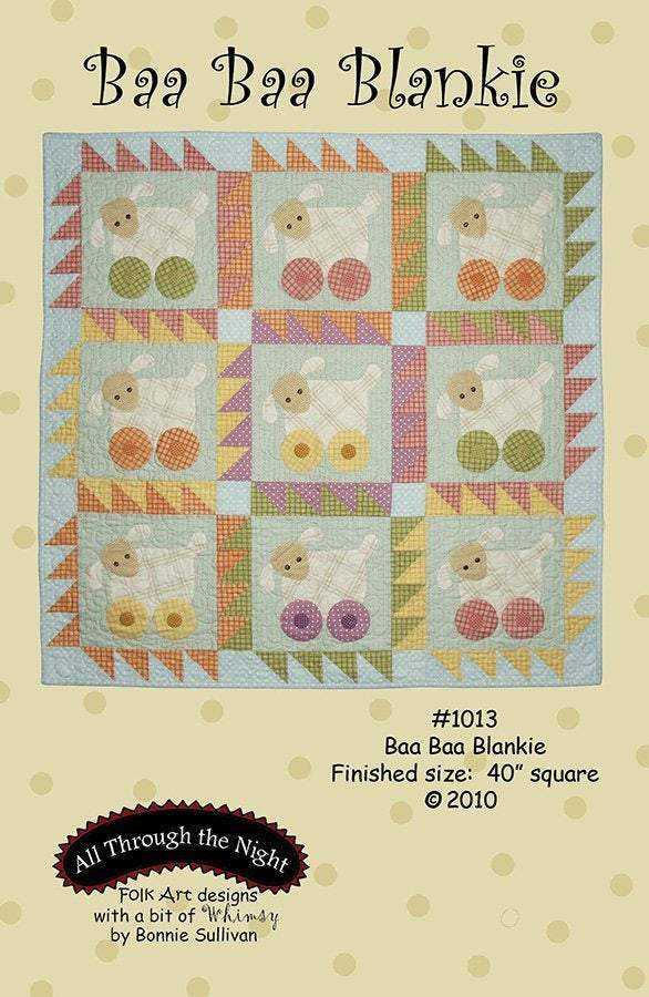 Baby Quilt Patterns,  Baa Baa Blankie by All Through The Night