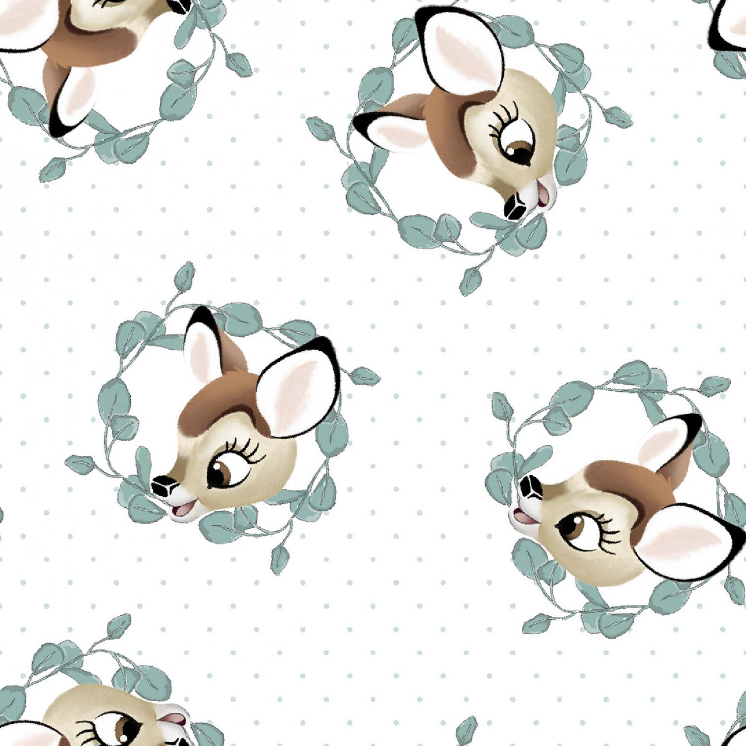 Bambi and Friends Children's Cotton Fabric 43 Inches Wide