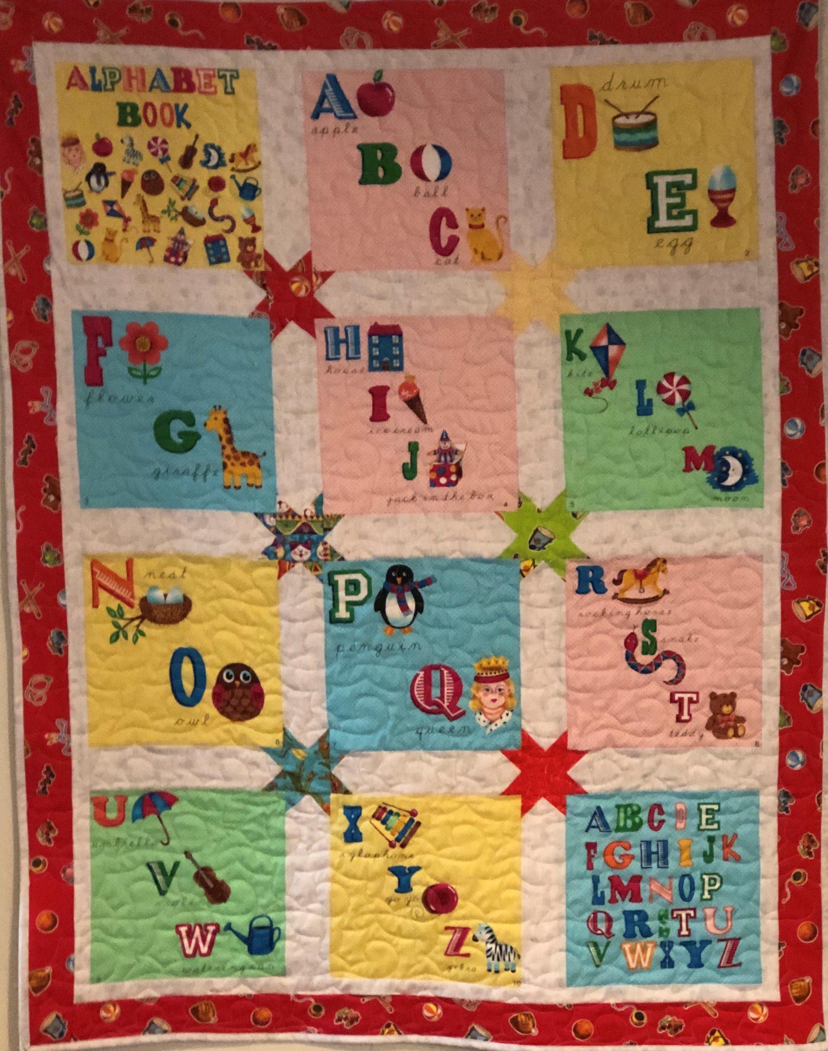 Children's Alphabet Quilt Pattern Free Download