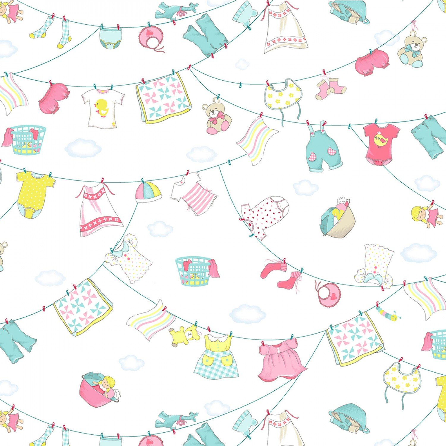 Children's Fabric Wash N Wear Baby Boomers Fabric Collection