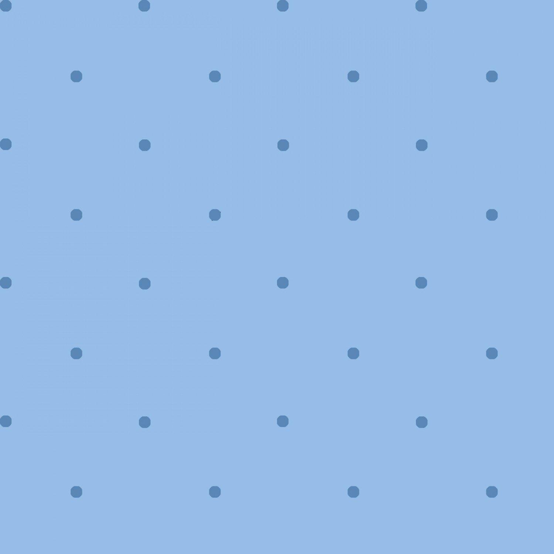 Children's Reproduction Fabric Blue Petite Dots Cotton