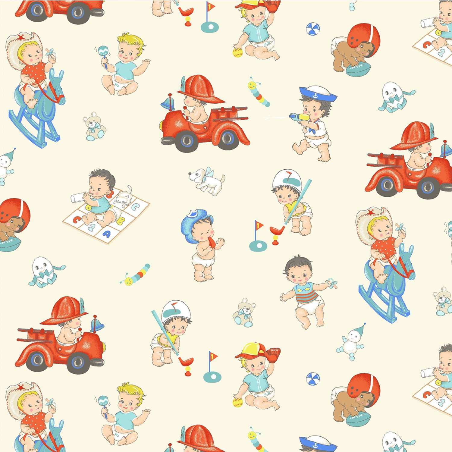 Children's Reproduction Fabrics Playtime Toys from Michael Miller