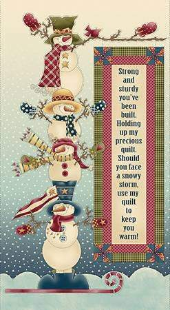 Christmas Fabric Panel My Precious Quilt 24 x 44 by Leanne Anderson