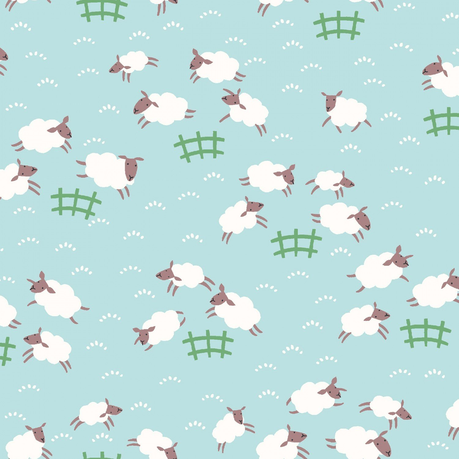 Dear Stella Misty Sheep Frolic Children's Fabric 44 Inches Wide