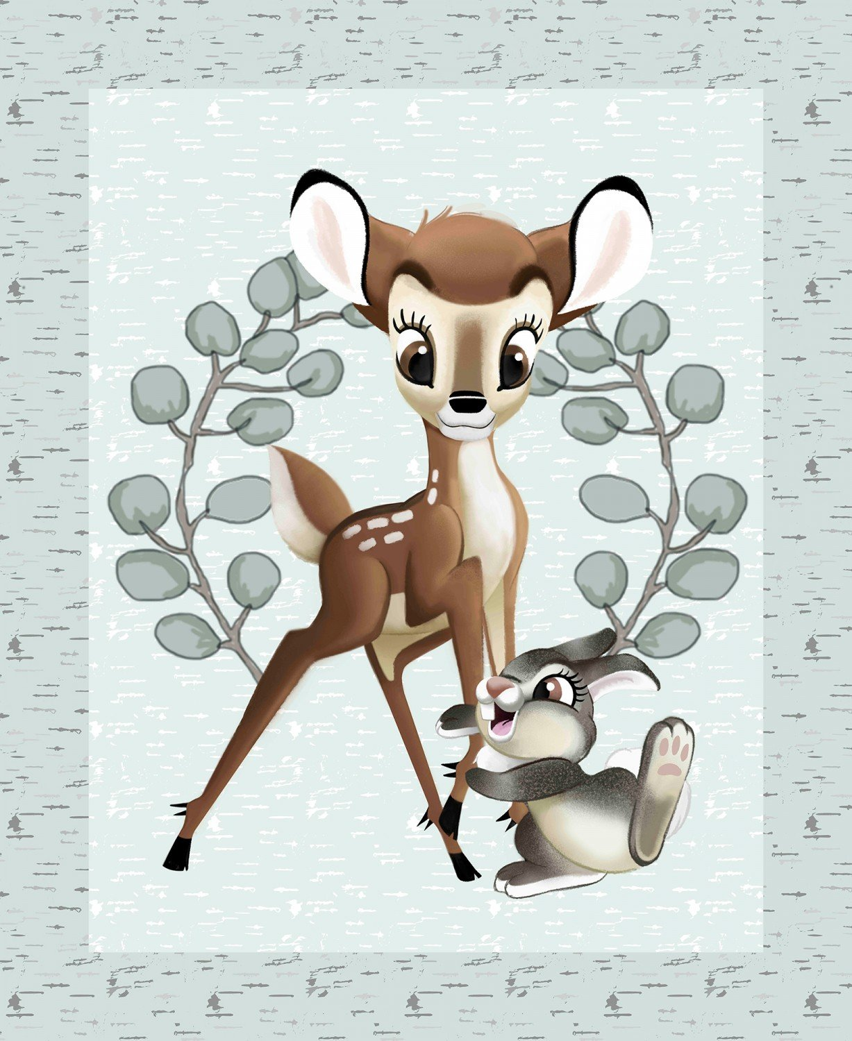 Disney Bambi and Thumper Children's Fabric Panel 36 x 43 Inches