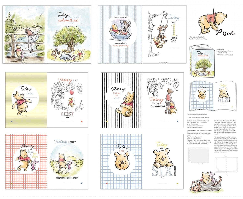 Disney Classic Winnie The Pooh Children's Soft Cloth Book Panel