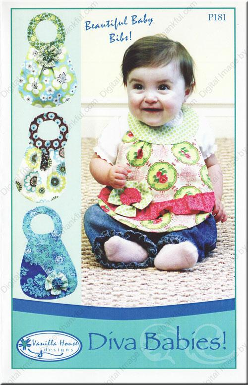 Diva Babies Boutique Baby Bib Pattern by Vanilla House Designs