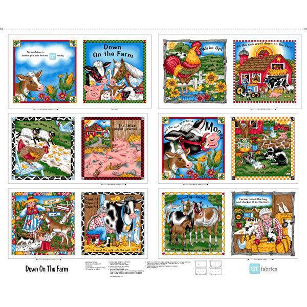 Down On The Farm Children's Cloth Book Panel by Quilting Treasures