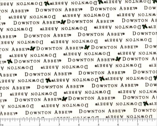 Downton Abbey Christmas Holiday Cotton Fabric