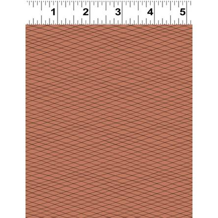 Dreaming Of Snow Rust/Brown Fabric Yardage