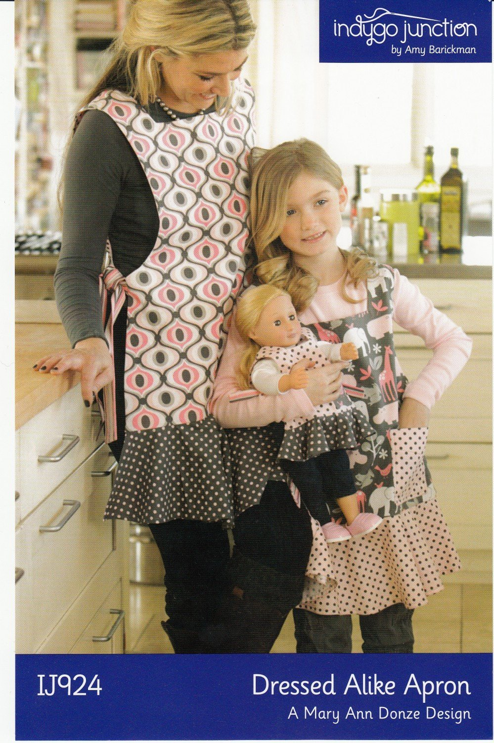 DRESSED ALIKE MOTHER Daughter Doll Apron Pattern by Indygo Junction