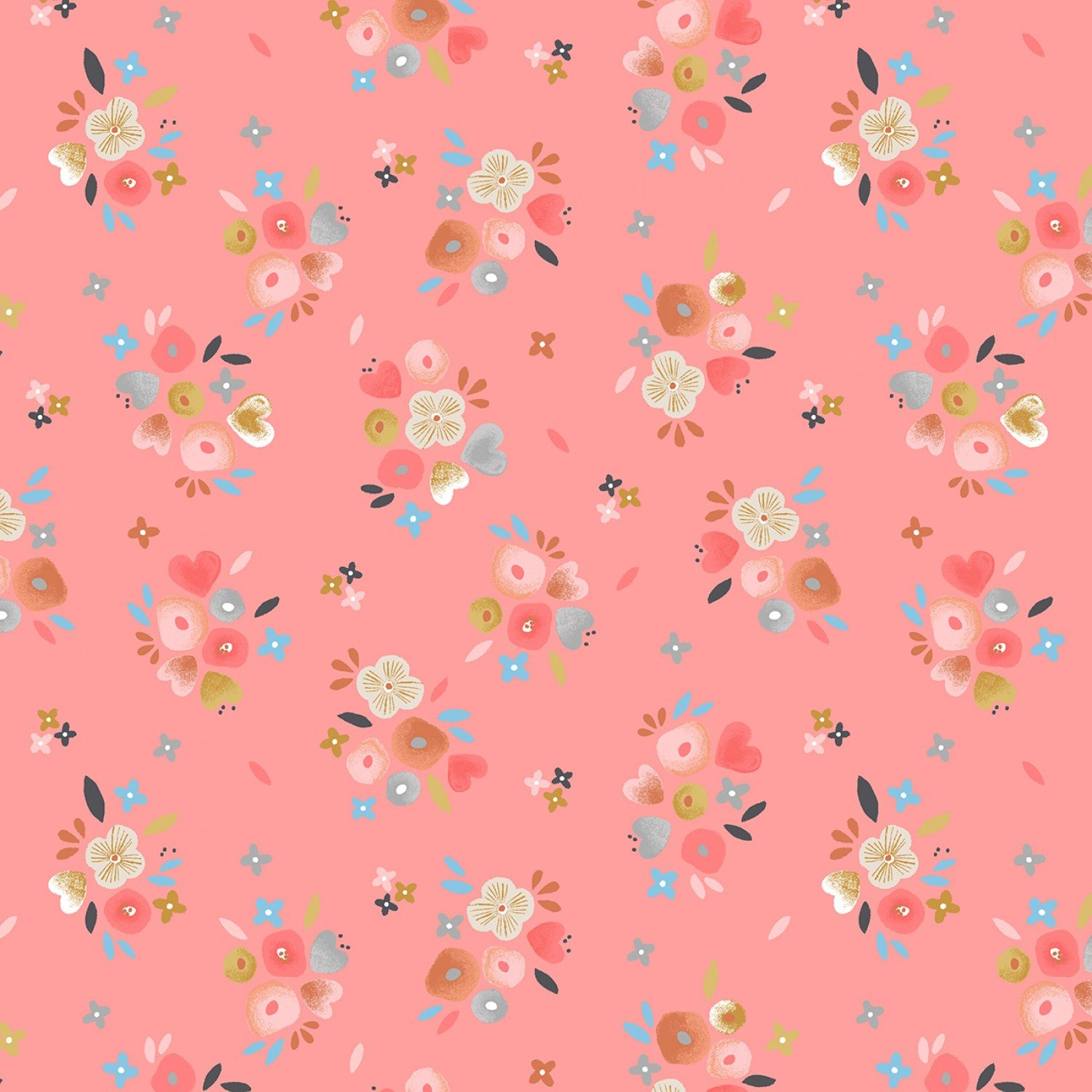 Exploring With Mom Rose Baby Bouquets Children's Fabric Yardage 42-43 Inches