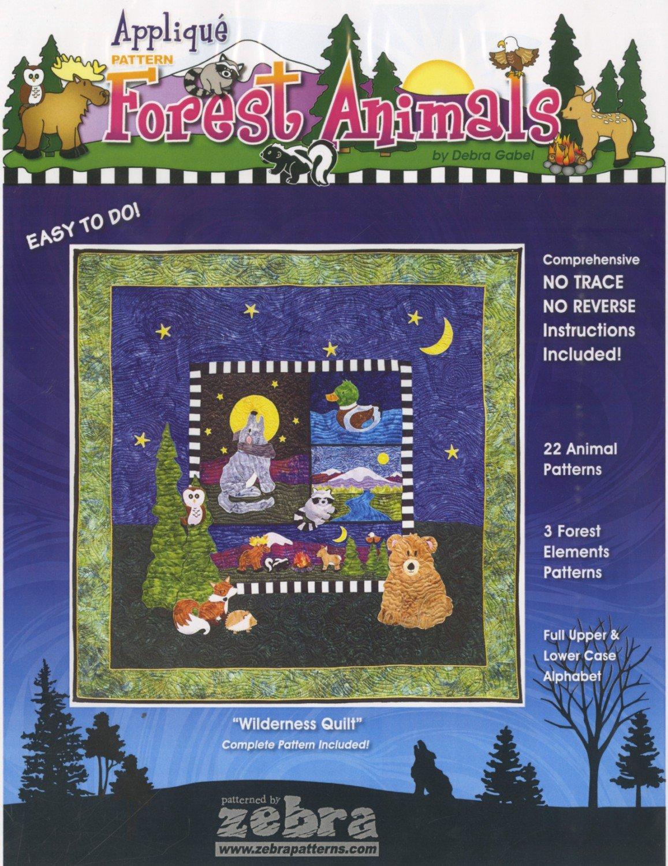 Forest Animals Applique Pattern by Debra Gabel
