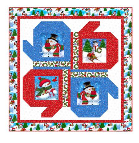 Frosty Friends Holiday Quilt Kit 46 x 46 from Quilting Treasures